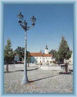 The town square in Frydek - Mistek