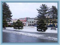 The square in Roznov