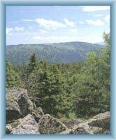 Sight of Červená mountain from mountain Vozka