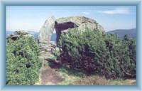 Stone window under Červená mountains