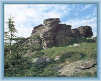Rock on the top of mountain Vozka
