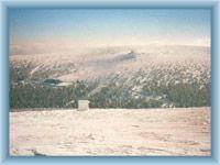 Sight of Ovčárna from Praděd in winter