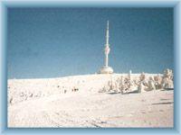 Mountain Praděd in winter