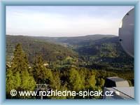 View from the view-tower Tanvaldský Špičák -