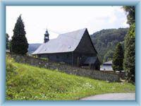 Wooden church in Kryštofovo Údolí