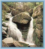 Waterfalls at Černý brook