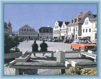 Town square in Hrádek nad Nisou