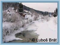 Velká Úpa - Frozen river