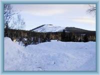 Mountain Čertova hora in winter