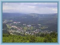 Harrachov from mountain Čertova hora