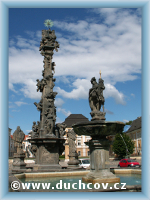 Fountain with statue St. Florian