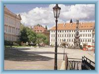 The Chateau square in Teplice