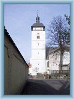 The tower of castle in Česká Kamenice