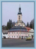 The church in Krásná Lípa