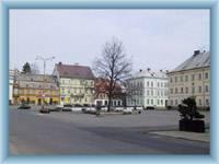 The town square in Krásná Lípa