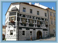 House at the town-square in Mikulov