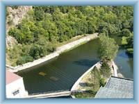 Under the Vranov dam