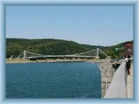 Vranov dam - bridge over the bay