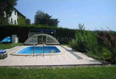 Holiday house - cottage in the garden with pool
