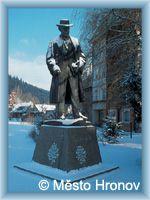Hronov - Statue of A. Jirásek