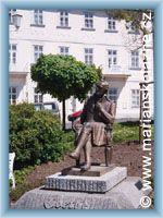 Marienbad - Bronze monument of J. W. Goethe
