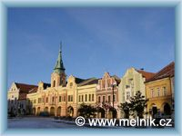 Mělník - Town-square and Town-hall