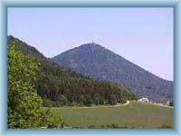 Mountain Milešovka from Milešov
