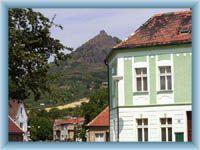 Ruin above the city Trebenice