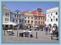 Town-square in Český Krumlov