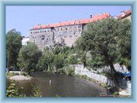 River Vltava and castle in Český Krumlov