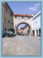 Town-gate in Český Krumlov