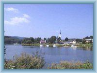 Dam lake Lipno and Frymburk