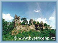 Bystřice nad Pernštejnem - Ruin of castle Zubštejn