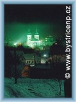Bystřice nad Pernštejnem at night