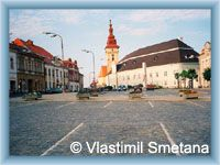 Moravské Budějovice - Town-square