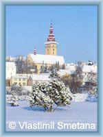 Moravské Budějovice - Temple in winter