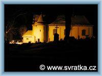 Svratka - Church at night