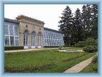 Telč - glasshouse in castle park